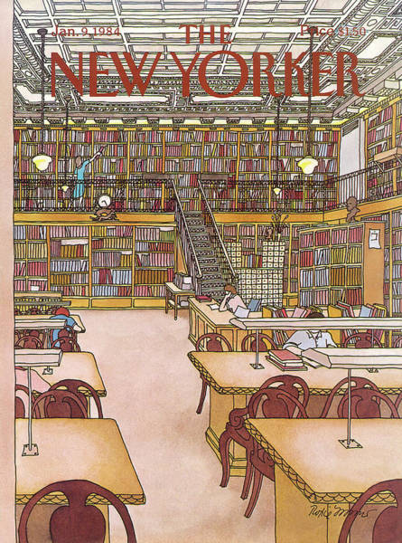 Book Painting - New Yorker January 9th, 1984 by Roxie Munro