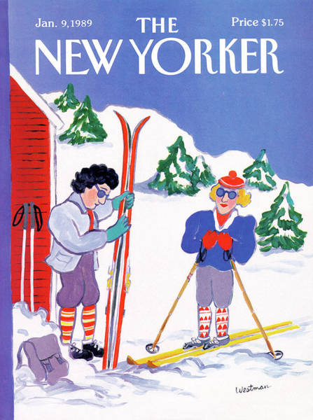 Family Painting - New Yorker January 9th, 1989 by Barbara Westman