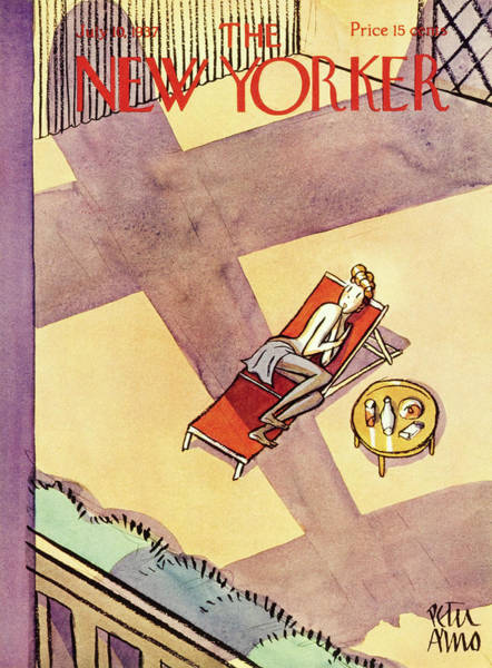 Nobody Painting - New Yorker July 10 1937 by Peter Arno