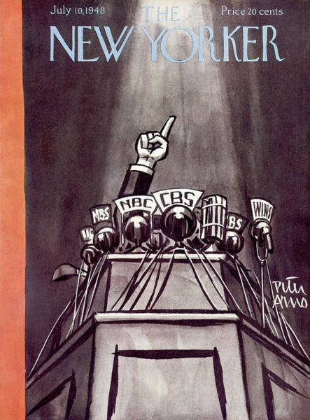 Campaign Painting - New Yorker July 10th, 1948 by Peter Arno