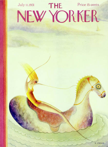 Riding Painting - New Yorker July 11 1931 by Rose Silver