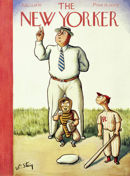 American Culture Painting - New Yorker July 11 1936 by William Steig