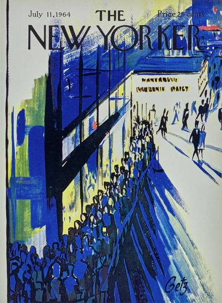 Night Painting - New Yorker July 11th 1964 by Arthur Getz