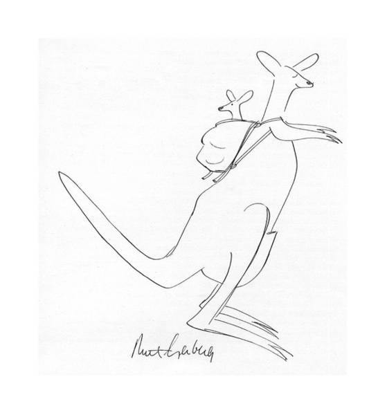 Kangaroo Drawing - New Yorker July 12th, 1976 by Mort Gerberg