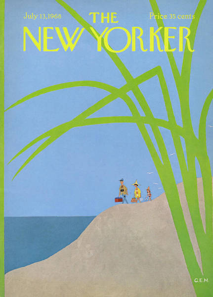 Plant Painting - New Yorker July 13th, 1968 by Charles E Martin