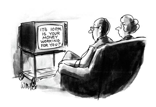 T.v Drawing - New Yorker July 13th, 1987 by Warren Miller