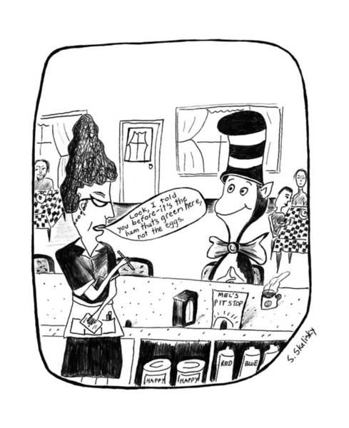 Cat In The Hat Wall Art - Drawing - New Yorker July 13th, 1992 by Stephanie Skalisk
