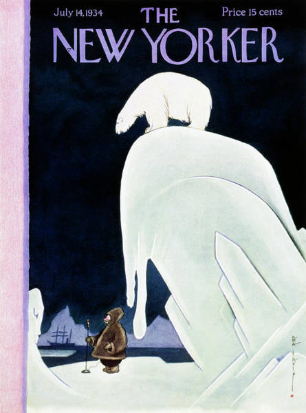 Nobody Painting - New Yorker July 14 1934 by Rea Irvin
