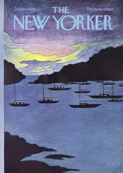 Summer Vacation Painting - New Yorker July 14th, 1975 by Charles E Martin