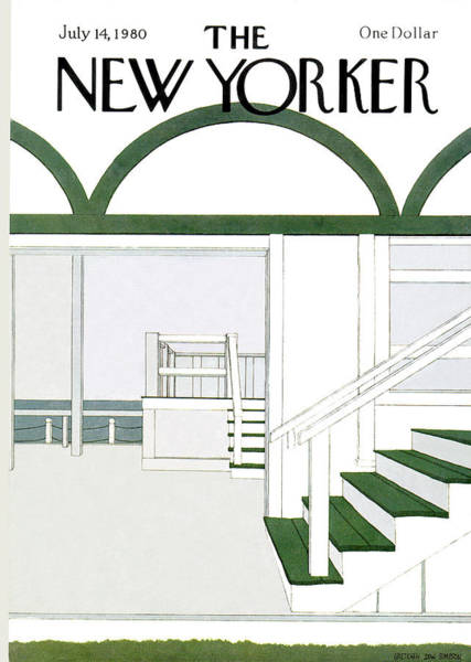 Outdoor Painting - New Yorker July 14th, 1980 by Gretchen Dow Simpson