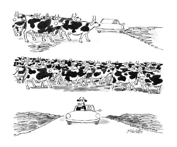 Rural Drawing - New Yorker July 14th, 1986 by Mischa Richter
