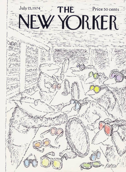 Shaded Painting - New Yorker July 15th, 1974 by Edward Koren