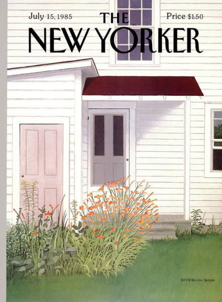 Suburban Painting - New Yorker July 15th, 1985 by Gretchen Dow Simpson