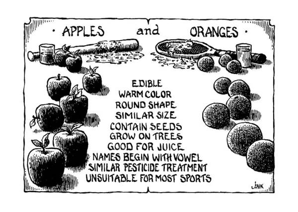 Apple Drawing - New Yorker July 15th, 1991 by John Jonik
