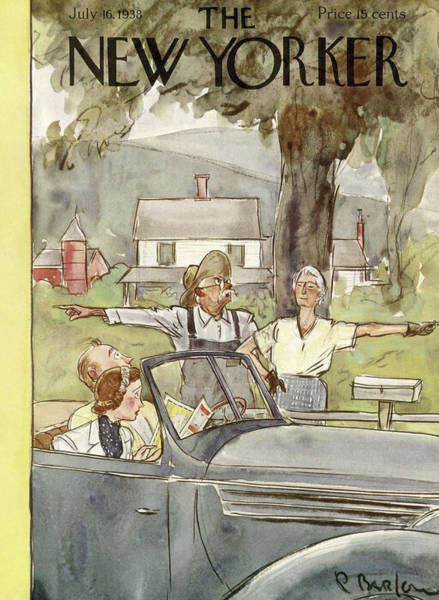 Farmer Painting - New Yorker July 16th, 1938 by Perry Barlow