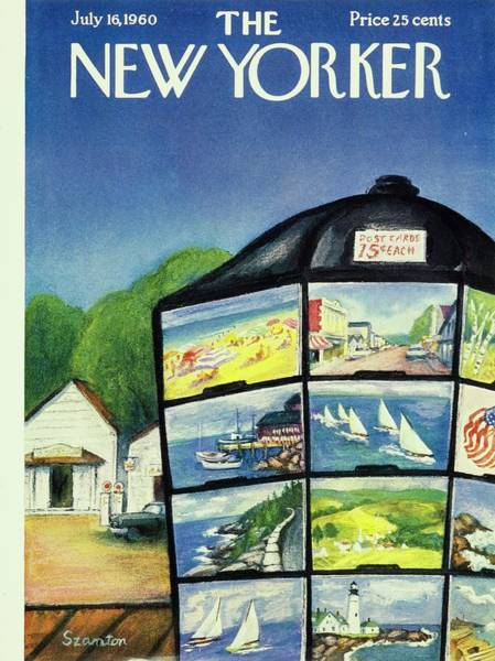 Gas Stations Painting - New Yorker July 16th 1960 by Beatrice Szanton