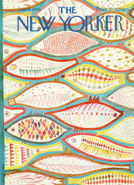 Ilonka Painting - New Yorker July 16th, 1966 by Ilonka Karasz