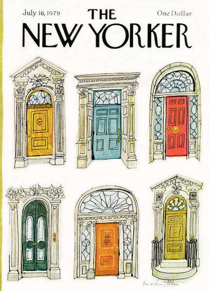 Architecture Painting - New Yorker July 16th, 1979 by Laura Jean Allen