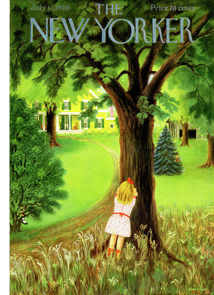 Suburban Painting - New Yorker July 17th, 1948 by Edna Eicke
