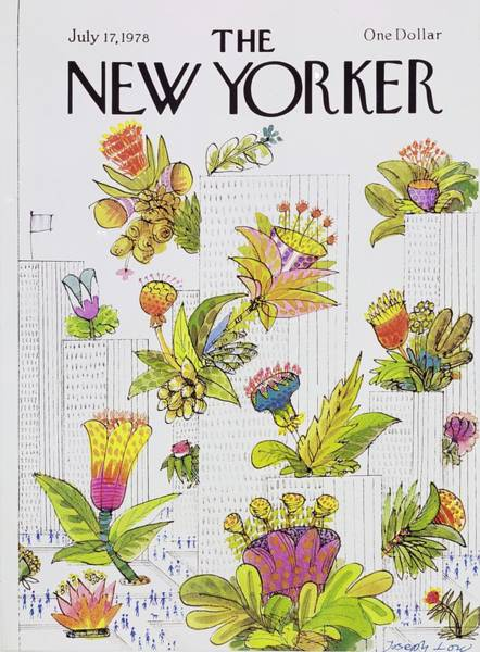 Skyscrapers Painting - New Yorker July 17th 1978 by Joseph Low