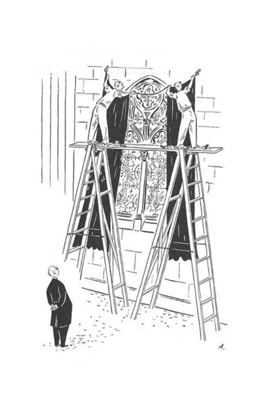 Christianity Drawing - New Yorker July 18th, 1942 by Constantin Alajalov