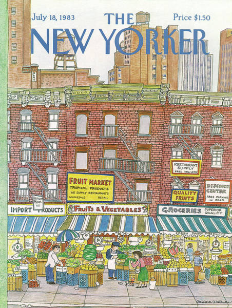 Tall Buildings Painting - New Yorker July 18th, 1983 by Barbara Westman