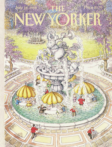 Restaurant Painting - New Yorker July 18th, 1988 by John O'Brien
