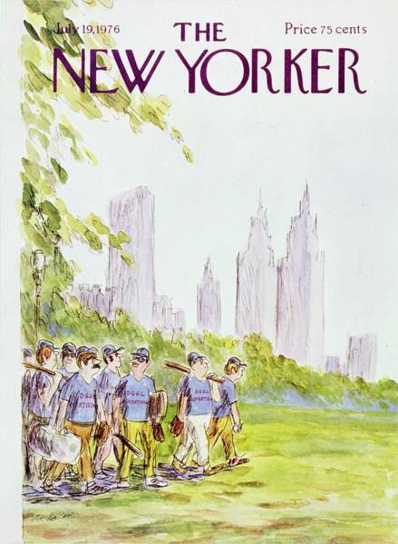 North America Painting - New Yorker July 19th 1976 by James Stevenson