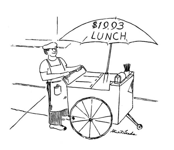 Cart Drawing - New Yorker July 19th, 1993 by Stuart Leeds
