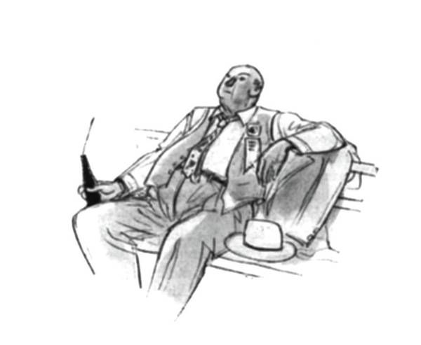 July 1st Drawing - New Yorker July 1st, 1944 by Perry Barlow