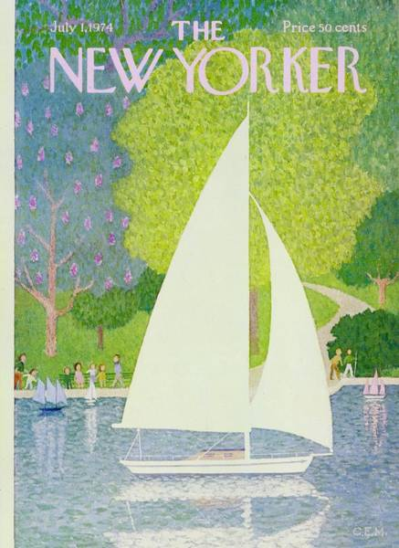 Magazine Painting - New Yorker July 1st 1974 by Charles Martin