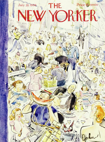 Waiter Painting - New Yorker July 20 1940 by Perry Barlow