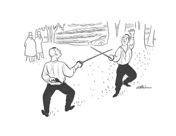 Sword Drawing - New Yorker July 20th, 1940 by  Alain