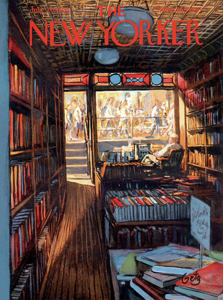 Reading Painting - New Yorker July 20th, 1957 by Arthur Getz