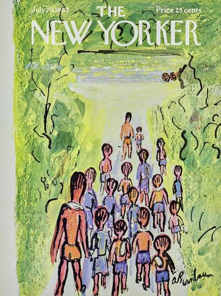 Swimsuit Painting - New Yorker July 20th 1963 by Aaron Birnbaum