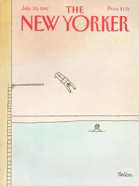 Summer Vacation Painting - New Yorker July 20th, 1981 by Robert Tallon