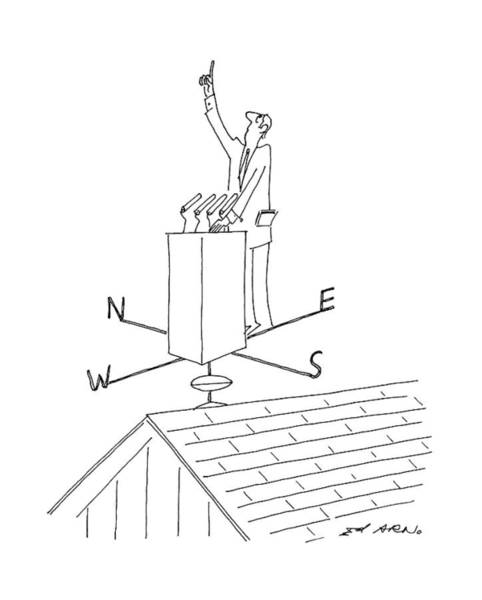 Weathervane Drawing - New Yorker July 20th, 1992 by Ed Arno