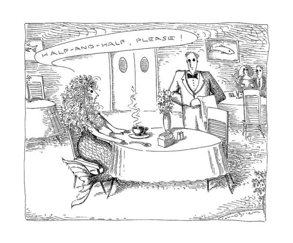 Waiter Drawing - New Yorker July 20th, 1992 by John O'Brien