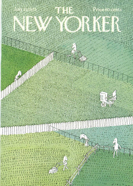 Suburban Painting - New Yorker July 21st, 1975 by RO Blechman