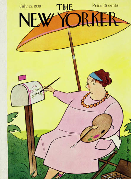 Magazine Cover Painting - New Yorker July 22 1939 by Rea Irvin