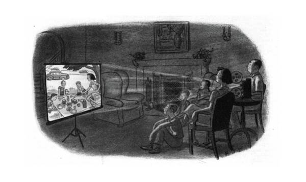 Picnics Drawing - New Yorker July 22nd, 1944 by Robert J. Day