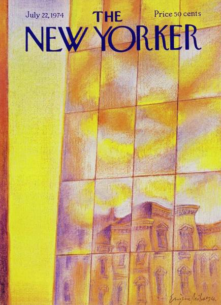 Skyscrapers Painting - New Yorker July 22nd 1974 by Eugene Mihaesco