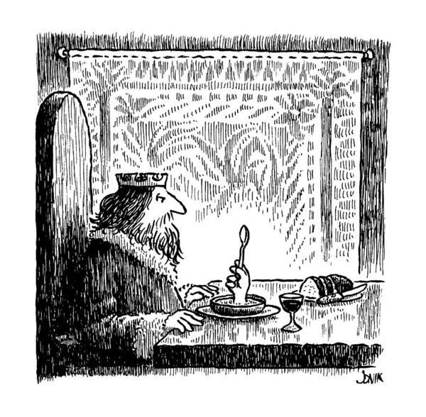 Spoon Drawing - New Yorker July 22nd, 1991 by John Jonik
