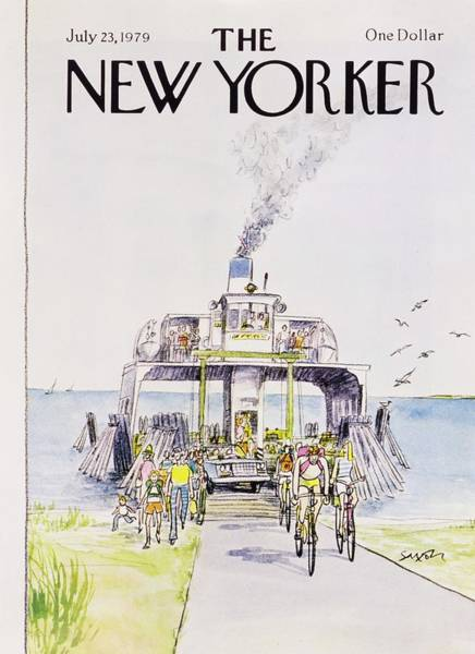 Bicycle Painting - New Yorker July 23rd 1979 by Charles D Saxon