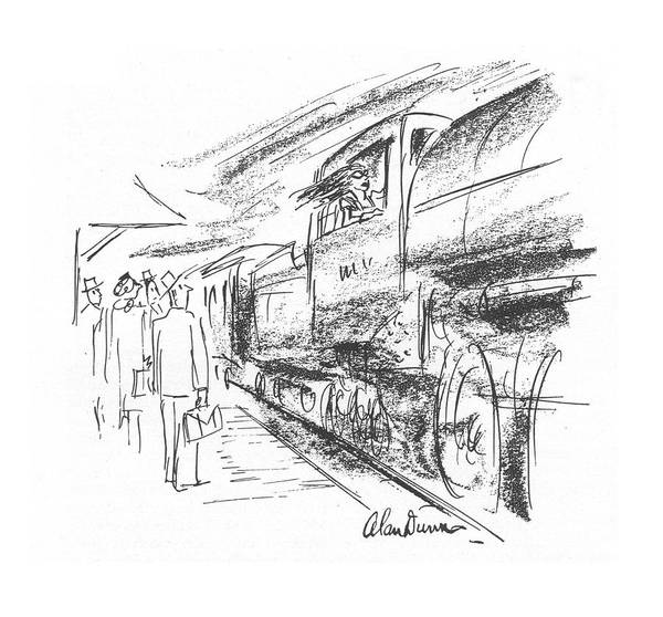 Locomotive Drawing - New Yorker July 24th, 1943 by Alan Dunn