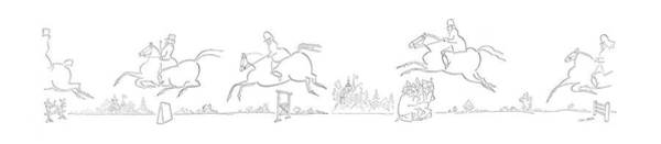 Horseback Riding Drawing - New Yorker July 24th, 1954 by Saul Steinberg