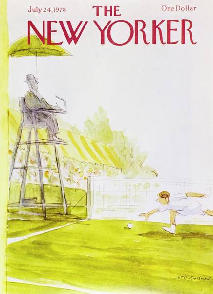Running Painting - New Yorker July 24th 1978 by James Stevenson