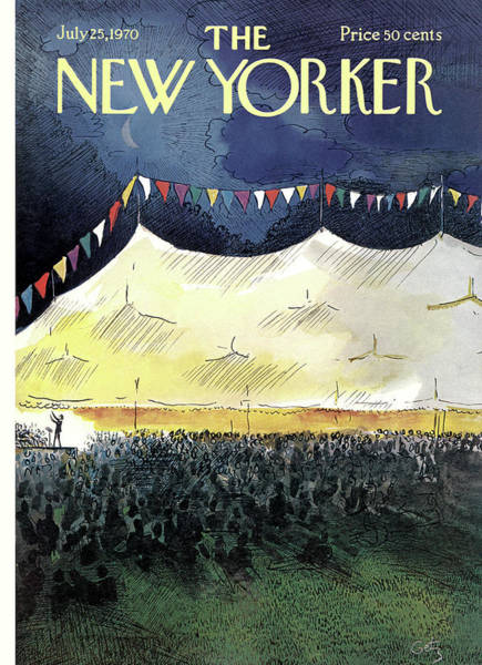 Performer Painting - New Yorker July 25th, 1970 by Arthur Getz