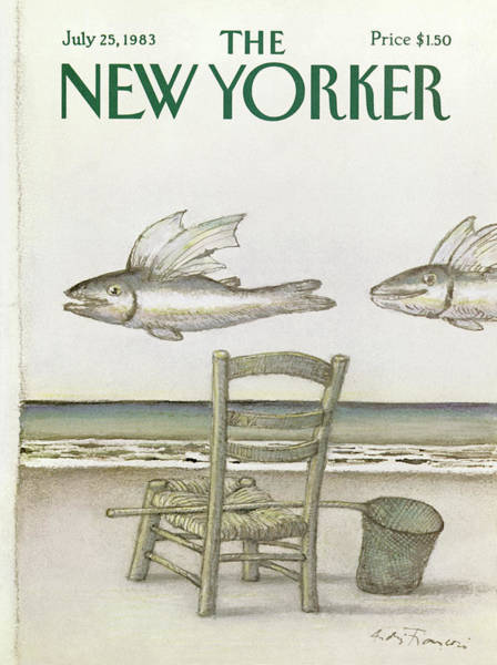 Coastal Painting - New Yorker July 25th, 1983 by Andre Francois