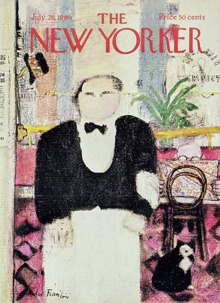 Service Painting - New Yorker July 26th 1969 by Andre Francois